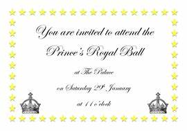 royal ball invitation cinderella by graceteach With cinderella invitation to the ball template