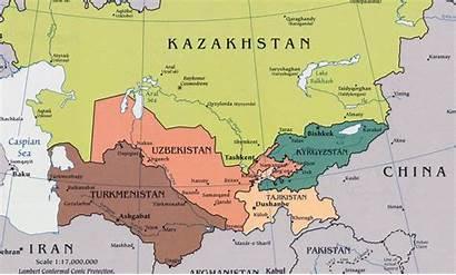 Uzbekistan Asia Central Map States Informazione 2025