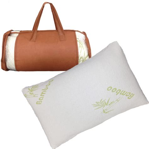 hotel bamboo pillow hotel comfort bamboo memory foam pillow with bag ebay