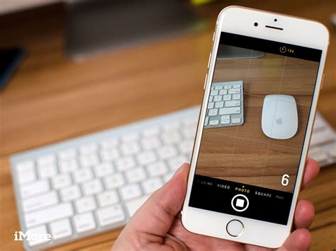 how to use iphone 6 how to set the flash hdr timer and grid on iphone or