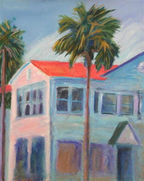 Large beach house palm tree painting by Emily Cheek   Etsy