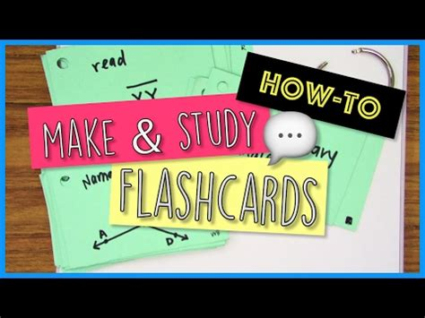 Howto Make And Use Flashcards  School Tips Youtube