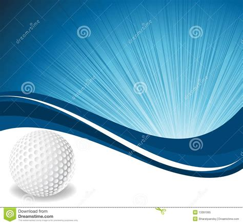 golf ball  blue wave background royalty  stock photo