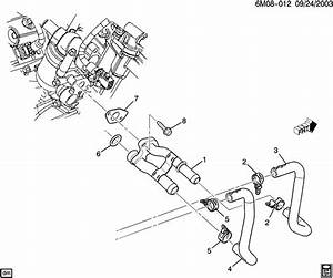 2008 Cadillac Cts Base 4dr Pipe  Heater  Pipe  Htr Inl