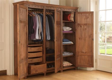 Wooden Wardrobe With Shelves by Top 15 Of Rail Oak Wardrobes