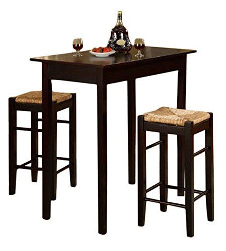 3 Piece Dinette Set Kitchen Pub Dining Table And Chairs