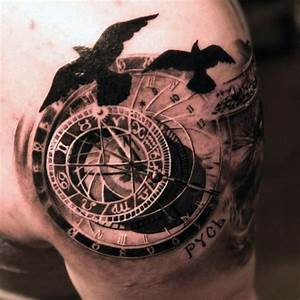 70 Compass Tattoo Designs For Men - An Exploration Of Ideas