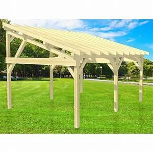 Carport 2 Voitures Bois : carport 2 voitures autoclav monopente sans couverture ~ Dailycaller-alerts.com Idées de Décoration
