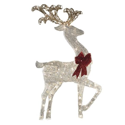 holiday living    light champagne mesh reindeer