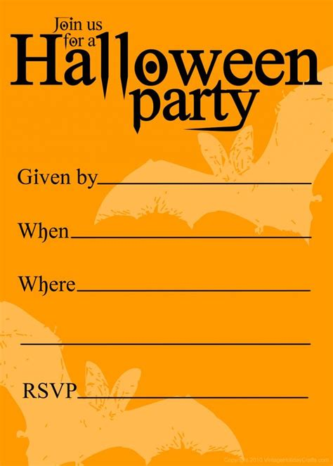 printable halloween birthday invitations templates
