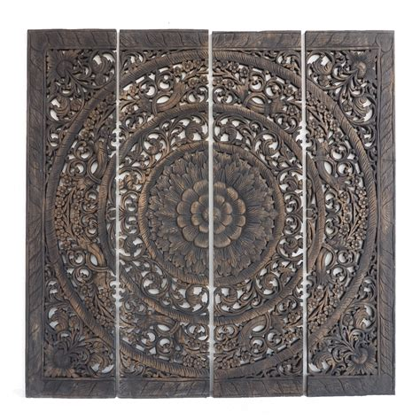 Moodboards, flatlays and sketches for interior design projects in the works! Buy Grand Carved Teak Wood Wall Art Panel Plaque Decor ...