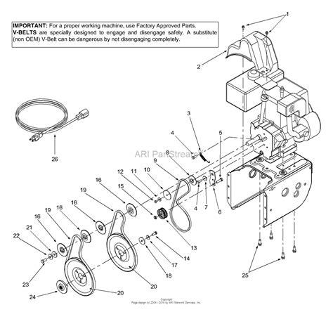 mtd aef  parts diagram  belts engine