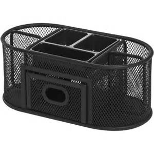 lorell mesh steel multipurpose desktop organizer black