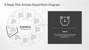 Thin Arrows Process Flow Chart Slide