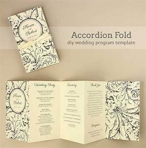 diy accordion wedding program free template project With wedding invitations program free download