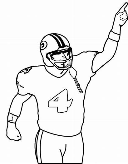 Football Coloring Nfl Player Pages Players Drawing