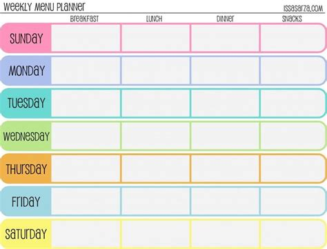Meal Planner Template Word by Monthly Menu Template For Word Invitation Templates