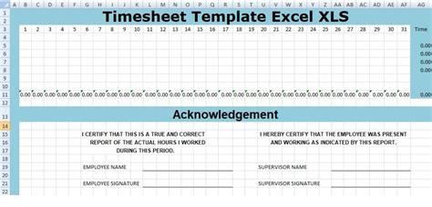 timesheet template excel xls xlstemplates