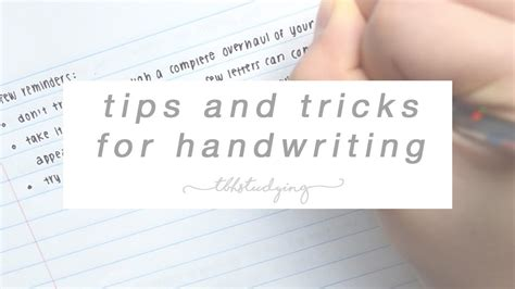 Tips And Tricks For Handwriting Youtube