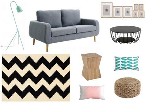 canape blanc pas cher décorer un salon dans le style scandinave joli place