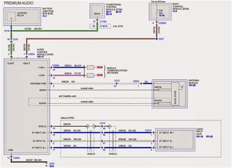 2000 Ford Tauru Factory Stereo Wiring Diagram by Wiring Diagram For 2014 Ford Taurus Sho W Sony Sound