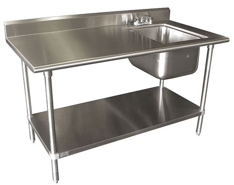advance tabco stainless steel scullery sink with left work
