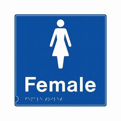 Signs Female Braille Safety Symbol Bigdug Tactile