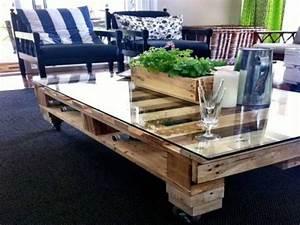 Table Basse Palettes : table basse palette pour un bar dans le salon ~ Melissatoandfro.com Idées de Décoration