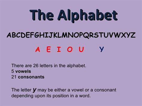 vowels  consonants