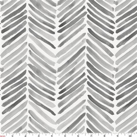 grey and white gray painted chevron fabric by the yard gray fabric