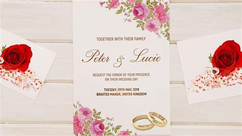 design  wedding invitation card photoshop