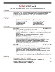Enforcement Resume Template by Best 25 Officer Resume Ideas On