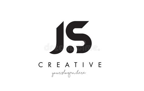 Js Letter Logo Design With Creative Modern Trendy