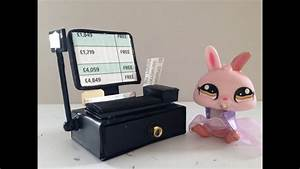 premium check registers how to make a lps doll cash register money youtube