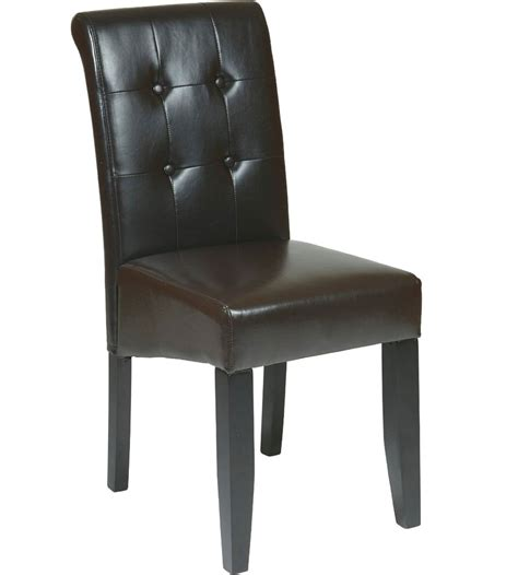 faux leather dining chair in dining chairs