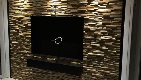 Holz An Wand by Tv Wand Holzverkleidung Bs Holzdesign