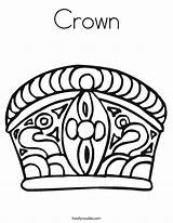 Crown Coloring Pages Mahkota Queen Royal Prince Noodle Printable Princess King Rapunzel Clipart Triangle Twisty Starts Twistynoodle Clip Built California sketch template