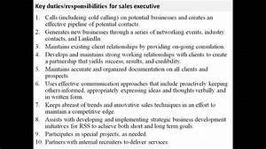 Sales Executive Job Description YouTube