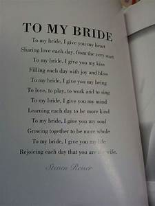 39to my bride39 poem could be used for the groom39s vows for Love letter wedding ceremony