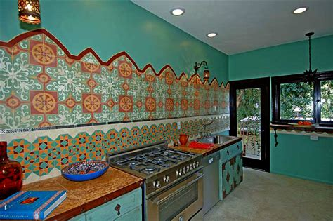 kitchen design  moroccan tiles  design vidal