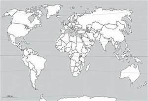 Carte Du Monde Noir : carte a imprimer du monde noir et blanc gratuite ~ Teatrodelosmanantiales.com Idées de Décoration