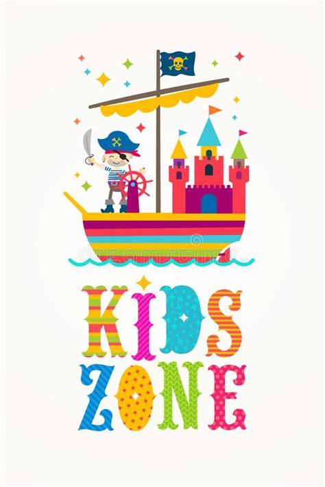 pirate ship playground stock illustration illustration