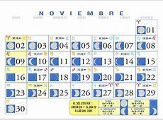 Calendario Lunar Noviembre de 2009