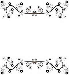 Black and White Flower Borders Free