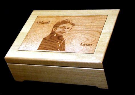 hand  custom laser engraved wood jewelry box  wood
