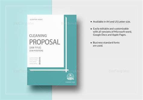 sample formal proposal template   documents