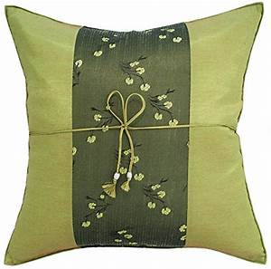 Avarada striped mei floral flower throw pillow cover for Sofa cushion covers 24x24