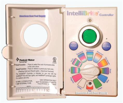 pentair pool light controller pentair intellibrite controll