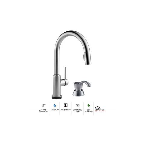 delta 9159t ar dst sd arctic stainless trinsic pull down