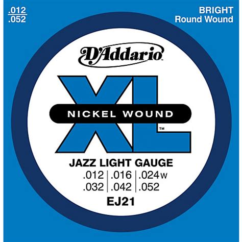 d addario ej21 xl nickel jazz light electric guitar